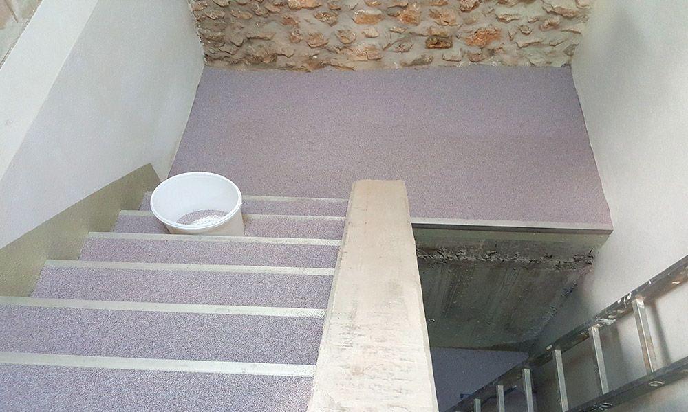 Treppenbeschichtung in einem Weingut